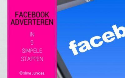 Adverteren op Facebook in 5 simpele stappen