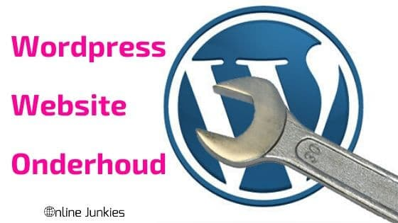 wordpress website onderhoud